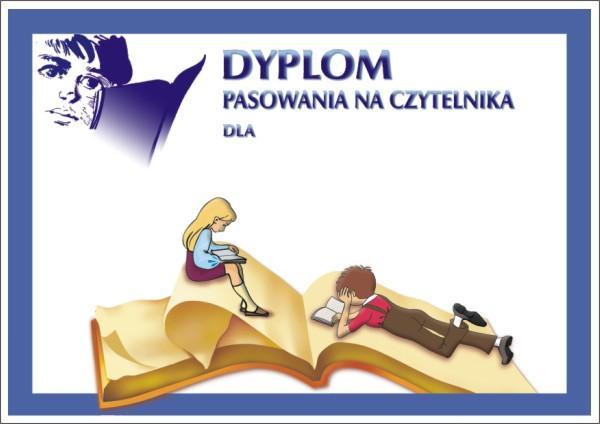 Dyplom Pasowania na Czytelnika, format A4